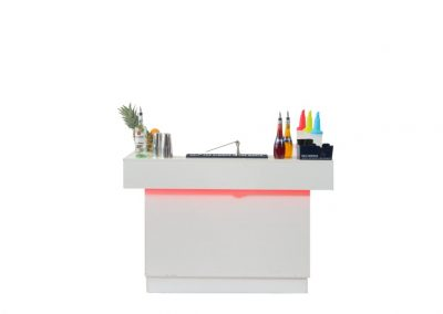 Small white cocktail bar